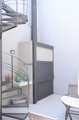 Parrilla. Patio interno.: Muebles de cocinas de estilo  por NG Estudio