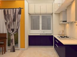 Mantri Webcity, Duplex 3 BHK - Mr. Vishal:  Built-in kitchens by DECOR DREAMS