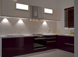 Independent Bungalow, RR Nagar - Mr. Mohan:  Built-in kitchens by DECOR DREAMS