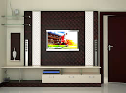 Independent Bungalow, RR Nagar - Mr. Mohan: modern Living room by DECOR DREAMS