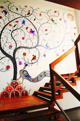 Mr. Amrish - Astro Rosewood Regency:  Corridor, hallway & stairs  by DECOR DREAMS
