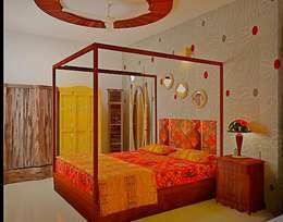 SJR Watermark, 3 BHK - Mr. Ankit: classic Bedroom by DECOR DREAMS