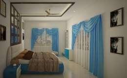 SJR Watermark, 3 BHK - Mr. Ankit: modern Bedroom by DECOR DREAMS