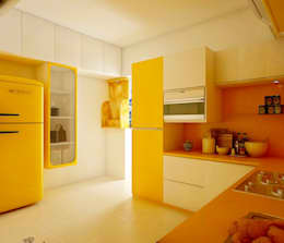 SJR Watermark, 3 BHK - Mr. Ankit:  Built-in kitchens by DECOR DREAMS