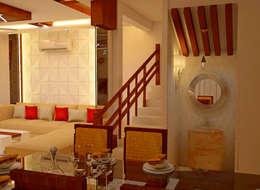JR Greenwich Villas, Sarjapur Road - Ms. Natasha: eclectic Dining room by DECOR DREAMS
