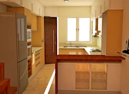 JR Greenwich Villas, Sarjapur Road - Ms. Natasha:  Built-in kitchens by DECOR DREAMS