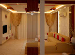 JR Greenwich Villas, Sarjapur Road - Ms. Natasha: eclectic Living room by DECOR DREAMS