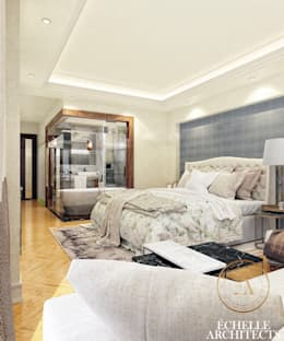 Master Bedroom:   تنفيذ Echelle Architects