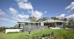 Casas de campo de estilo  por Eckostudio Horter S.A. de C.V.