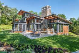 Casa de Campo 04: Casas de campo de estilo  por Eckostudio Horter S.A. de C.V.