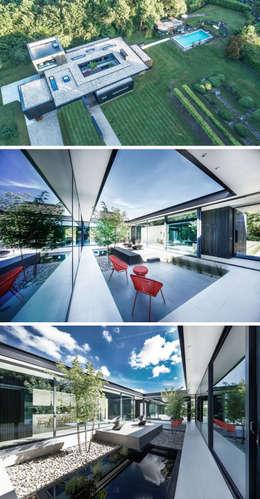 Jardin 01: Jardines zen de estilo  por Eckostudio Horter S.A. de C.V.