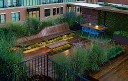 Jardines zen de estilo  por Eckostudio Horter S.A. de C.V.