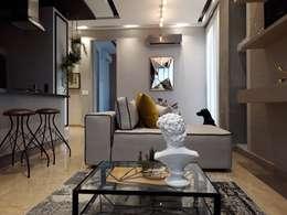 Diseño interior apartamento de soltero: Salas de estilo industrial por ecoexteriores