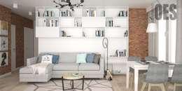 scandinavian Living room by OES architekci