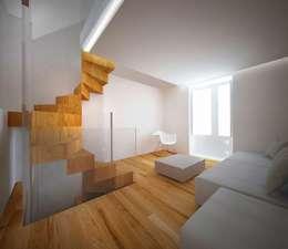 Pasillos y recibidores de estilo  por Studio di architettura Polisano