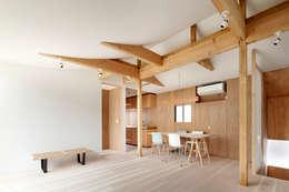 4世代の家(リノベーション): 鬼頭知巳建築設計事務所が手掛けたリビングです。