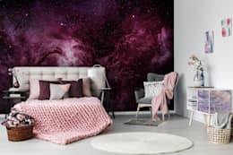 Purple Galaxy: modern Bedroom by Pixers