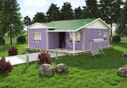 Maison préfabriquée de style  par İdeal Ev (Prefabrik Evim)