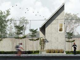 Tampak Depan Bangunan:  Rumah tinggal  by SODA Indonesia