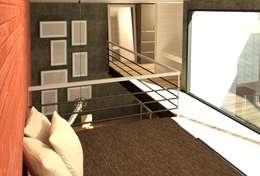 Habitación 2: Recámaras de estilo moderno por Perfil Arquitectónico