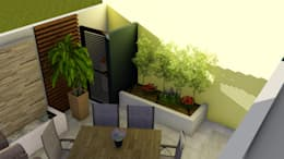 Área de guardado al aire libre y remate visual: Jardines de estilo moderno por Probase Project Management