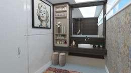 Lavabo Monize: Banheiros modernos por Karoline Martins - Arquitetura & Interiores
