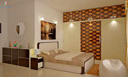 Sobha City, 3 BHK - Mr. Agrawal: modern Bedroom by DECOR DREAMS