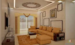 Sobha City, 3 BHK - Mr. Agrawal: modern Living room by DECOR DREAMS