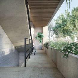 Circulaciones: Pasillo, hall y escaleras de estilo  por Taller Veinte