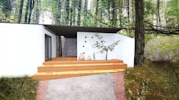 ENTRADA PRINCIPAL: Casas de estilo moderno por De.sign