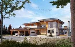 LAKE'S FLOWER: проект частного дома в Канаде: Дома в . Автор – Компания архитекторов Латышевых 'Мечты сбываются'