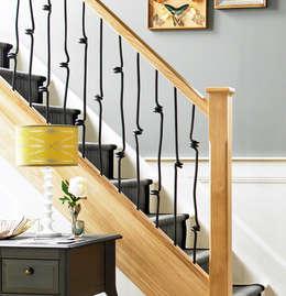 modern Corridor, hallway & stairs by Wonkee Donkee Richard Burbidge