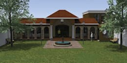 FACHADA: Casas de estilo mediterraneo por De.sign