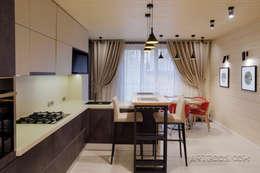 Шале на реке Истра: Кухонные блоки в . Автор – Творческая мастерская АRTBOOS
