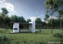 Coffe House StudioA&W: styl nowoczesne, w kategorii Domy zaprojektowany przez  Architekt Łukasz Bulga Studio A&W | Projekty domów nowoczesnych