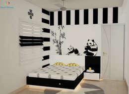 DLF Woodland Heights, 3 BHK - Mrs. Darakshan:  Teen bedroom by DECOR DREAMS