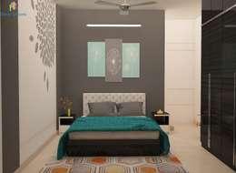 DLF Woodland Heights, 3 BHK - Mrs. Darakshan: modern Bedroom by DECOR DREAMS