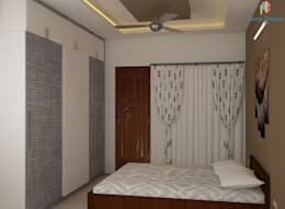 Ahad Euphoria, 2 BHK - Mr. Krishna: modern Bedroom by DECOR DREAMS