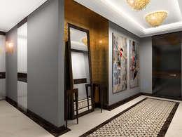 Pasillos y recibidores de estilo  por AR Architecture