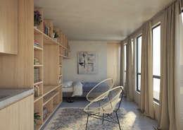 modern Bedroom by N47D ESTUDIO