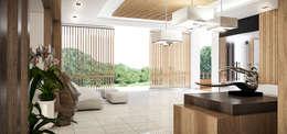 Nadee10 Hotel KhonKaen:  ระเบียงและโถงทางเดิน by HEAD DESIGN