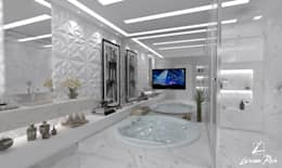 modern Bathroom by LARISSA REIS ARQUITETURA