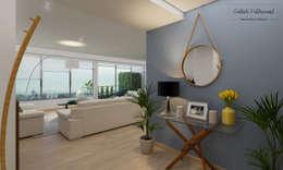 Departamento en Guadalajara: Pasillos y recibidores de estilo  por Citlali Villarreal Interiorismo & Diseño