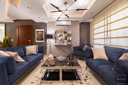 Mr.H.B. FLAT INTERIOR DESIGN ,MADINATY:  غرفة المعيشة تنفيذ RayDesigns