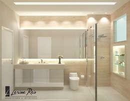 Banho Social - E&E: Banheiros modernos por LARISSA REIS ARQUITETURA