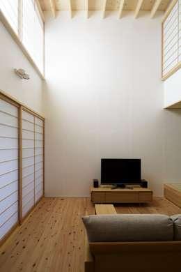 江戸川区K邸: スタジオ・スペース・クラフトが手掛けたリビングです。