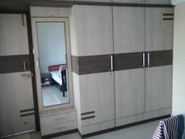 Wardrobe: asian Bedroom by URBAN HOSPEX INTERIORS
