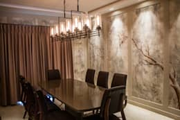 DINING ROOM: country Dining room by DESIGNER'S CIRCLE
