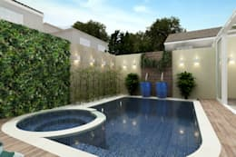 Piletas de jardín de estilo  por Juliana Zanetti Arquitetura e Interiores