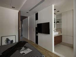 H宅_微型光盒:  浴室 by 沐禾設計事務所